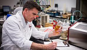 Scientist in labratory