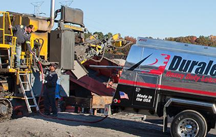 Duralene truck loading excavator