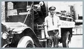 Original Duralene Driver Standing by His Truck