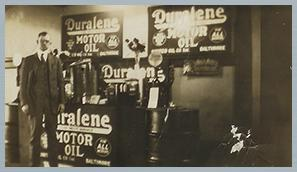 Duralene Motor Oil Sales Stand
